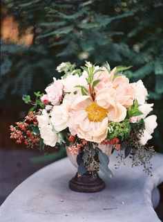 Wedding Ideas: red-berry-pink-flower-wedding-centerpiece