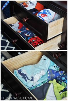 Organized kid clothes