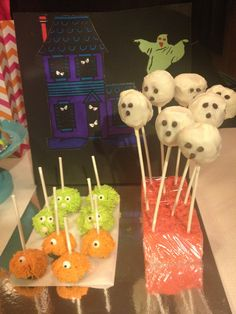 Monster & Ghost Cake Pops.  Scooby Doo Birthday Party.