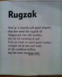 Rugzak...