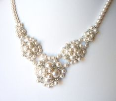 Pearl Necklace, Wedding Jewelry, Bridesmaid Jewelry, Bridal Necklace, Mother of the Bride, Swarovski Pearl Costume Jewelry on Etsy, $79.00