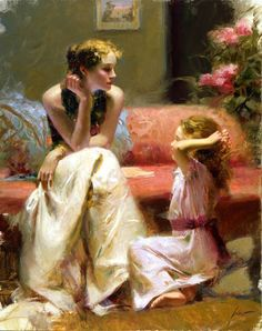 Reproductions of Pino Daeni's art Thinking of you