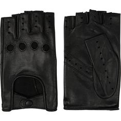Agnelle Cutout fingerless leather gloves (€67) ❤ liked on Polyvore featuring accessories, gloves, jewelry, other, black, black leather gloves, leather gloves, black fingerless gloves, black gloves and fingerless gloves