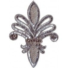 Glass Beaded Sequin Rhinestone Applique
