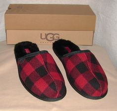 fa599f8d9e Authentic Ugg Australia Scuff Plaid Slippers Men s Us 10   Eu 43 Nib
