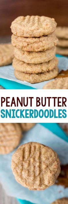 Peanut snickerdoodles -- a recipe that combines my two favorite types of cookies!