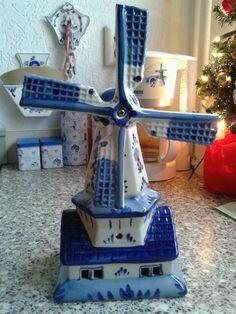 Molen Delfts Blauw Holland. I love Delfts Blue <3