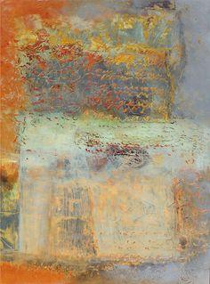 Relinquary, mixed media painting by Jinny Thomas (at Karan Ruhlen Gallery, Santa Fe)