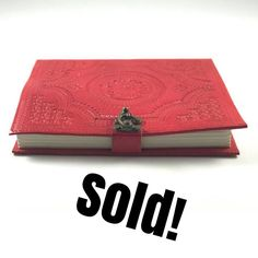 Our Red Refillable Journal is sold out! Visit our Etsy store to get yours today in your favorite color- Green Yellow Blue Turquoise or Purple.. shop link on the profile page!! #write #leatherjournal #journaling #journal #sketching #sketchbook #drawing #writing #zentangle #doodling #paint #handmadegifts #etsystore #handmadewithlove #smallbusiness #smallbusinessowner #shopsmall #refillable #redjournal #recycled #creativepreneur #aarinshandmade #staycreative #soldout #newlisting