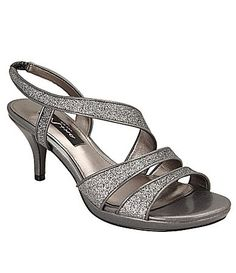 7410b77e18f Nina Nolga Glitter Sandals  Dillards Pewter Sandals