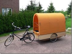 Love the bike trailer idea