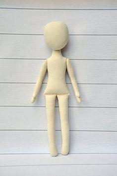 Blank doll body-15 Anna Doll blank rag doll ragdoll by NilaDolss: