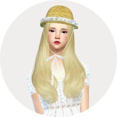 Marigold : Lace frill hat bowler unisex.