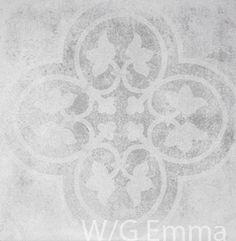 Carrelage aspect carreau ciment Epoque White Grey   PORTO VENERE