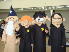 Potter puppet pals Cosplay!  Snape, Snape, Severus Snape..Dumbledore!!!