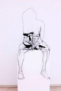 black - man with birds - figurative wire sculpture - David Oliveira Wire Drawing, Iron Wire, Bird Sculpture, Photomontage, Book Art, Modern Art, Art Photography, Art Pieces, David