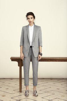 Cropped trousers + tuxedo jacket