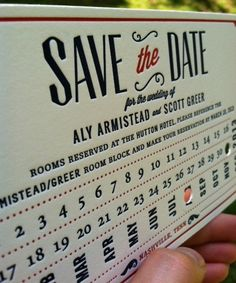 Train Ticket Stub Letterpress Save the Date Invitation. Navy + Red. Vintage 20's Wedding.