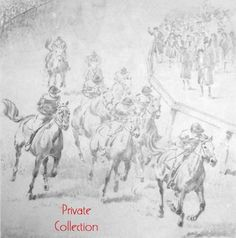 Race Scene from King of the Wind--this website has a collection of works and information about Wesley Dennis, the illustrator who did so many of Marguerite Henry's books with so much skill.
