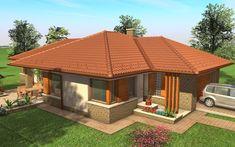 Egyszintes családi ház 167 m2 | Családiházam.hu Japanese Interior Design, My House, Gazebo, House Plans, New Homes, Outdoor Structures, House Design, Flooring, How To Plan