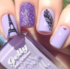20 Nail Designs to Paint Eiffel Tower When talking about Paris, what will occur to your head? I will say Eiffel Tower. Eiffel Tower is one of the famous icons in Paris. Paris Nail Art, Paris Nails, Hot Nails, Hair And Nails, Eiffel Tower Nails, New Nail Designs, Beach Nails, Nail Polish Art, Stylish Nails