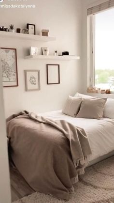 Room Design Bedroom, Room Ideas Bedroom, Small Room Bedroom, Bedroom Ideas For Small Rooms, Ikea Bedroom Decor, Cozy Small Bedrooms, Apartment Bedroom Decor, Cozy Room, Aesthetic Bedroom