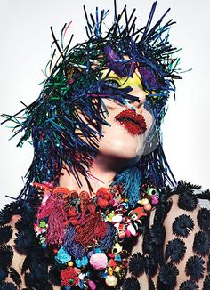RAVE NEW WORLD editorial | W Magazine March 2013 | Models: Nadja Bende, Aymeline Valade, Doutzen Kroes and Caroline Brasch Nielsen | Photographer: Mario Sorrenti | Stylist: Panos Yiapanis | Hair: Recine | Make-up: Aaron de Mey | Manicure: Yuna Park
