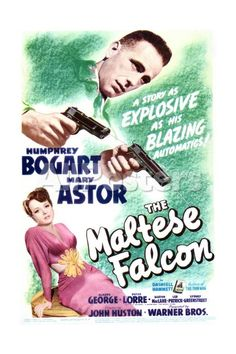 The Maltese Falcon - Movie Poster Reproduction People Art Print - 41 x 61 cm
