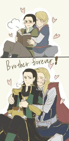 Loki + Thor (credit to the artist)