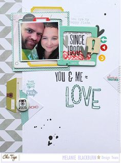 You & Me = Love by MelBlackburn - Scrapbooking Kits, Paper & Supplies, Ideas & More at StudioCalico.com!
