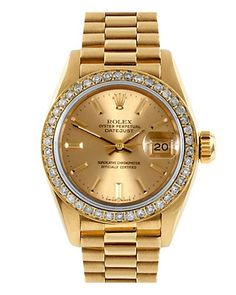Women watches: Rolex Womens 1980s President Diamond Watch