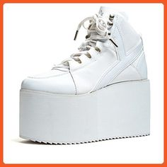YRU Qozmo Hi, white, 9 for sale Aesthetic Shoes, Aesthetic Fashion, Pump Shoes, Pumps, Heels, Combat Boots Style, Sneakers Fashion, Women Jewelry, Platform