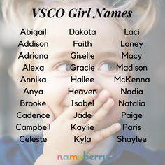 "Our question was not ""what is a VSCO girl?"" but rather, ""what is a VSCO girl name?"" We wanted to know what names define the VSCO girl generation, and now, after looking at the data, we can tell you. Strong Girl Names, Cute Girl Names, Baby Girl Names Unique, Unique Names, Cool Names, Baby Names, Popular Girl Names, Most Popular Names, Most Beautiful Girl Names"