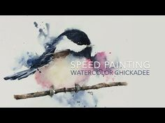 Speed Painting Watercolor Chickadee DawnW | Wplus9 Design