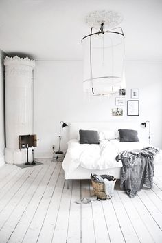 White shows clenliness, can make a room feel larger and shows purity.~Rebekah