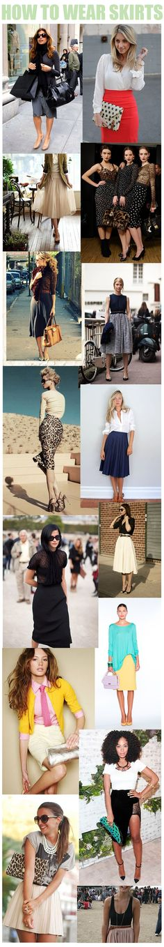 how-to-wear-skirts.png (600×3452)