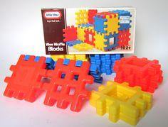 """Vintage 1990 Little Tikes """"Wee Waffle Blocks"""""""