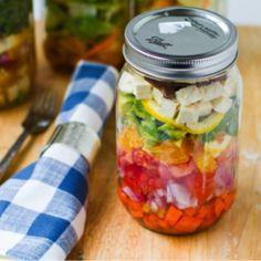 #splendidsummer mason jar salads