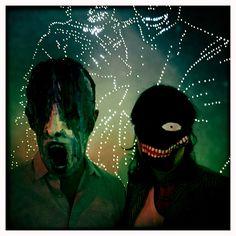 dark masks in the darkness