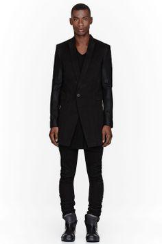 Julius Black Angora Beaver Coat.