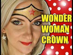 Fast & Easy Wonder Woman Crown Makeup Face Painting Tutorial