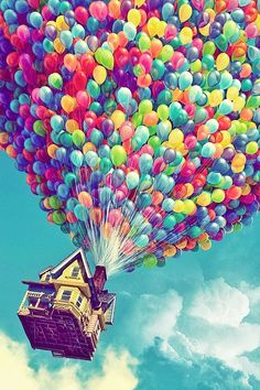 Wallpaper - Disney Up ~ rainbow balloons ~ iPhone backround Up Pixar, Pixar Movies, Cartoon Movies, Iphone Backgrounds, Wallpaper Backgrounds, Iphone Background Disney, Iphone Background Vintage, Wallpaper Samsung, Wallpaper For Your Phone