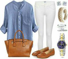 Outfit pantalón blanco