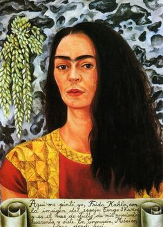 Self Portrait with Braid, Autorretrato con Trenza, Frida Kahlo, This was painted in the year 1940 , December and it was done after her remarriage with Diego Rivera. Description from pinterest.com. I searched for this on bing.com/images