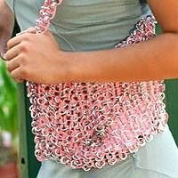 Buy Soda pop-top shoulder bag, 'Shimmery Morn' today. Shop unique, award-winning Artisan treasures by NOVICA, in association with National Geographic. Each original piece goes through a certification process to guarantee best value and premium quality.