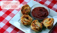 Homemade Pizza Rolls from Growing Up Gabel #recipe #pizza #sponsored