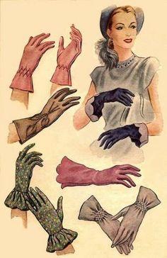 Vintage gloves, 1950s