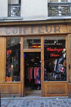 Vintage shop in Marais, Paris
