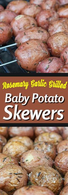 Rosemary Garlic Grilled Baby Potato Skewers - A great side dish for those summer. - Rosemary Garlic Grilled Baby Potato Skewers – A great side dish for those summer barbecues. Potato Dishes, Food Dishes, Grilling Recipes, Cooking Recipes, Grill Meals, Vegetarian Grilling, Cooking Grill, Healthy Grilling, Weber Grill Recipes