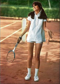 the 1960s-tennis outfit